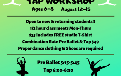 Ages 6-8 Pre-Ballet and Tap Workshop