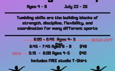 Ages 4-8 Tumbling Workshop